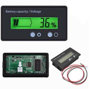 LED Batterieanzeige Voltmeter Monitor Füllstandsanzeige Anzeige Lampen 12V-48V