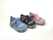 New Infant/Toddler Girls Embroidered Canvas Tennis Shoes 4 ~ 8