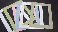 Picture Framing Mats 8x10 for 6x8 photo light colors set of 6 rectangle opening