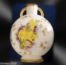 Adderley England art vase with yellow flowers - ca 1912 FREE SHIPPING