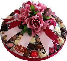 "12"" Assorted Hand Made Belgian Chocolate Platter 68-72 Chocolates 1100g"