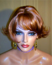 Drag Queen Wig Light Auburn Enya in a Short Sassy Flip