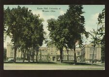 SCHOOL COLLEGE c1910-20 PPC USA...KAUKE HALL WOOSTER UNIVERSITY OHIO