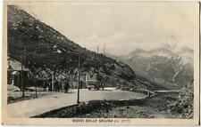 1928 Giogo della Spluga Carrozza ANNULLO UFFICIO CONFINE FP B/N VG ANIM