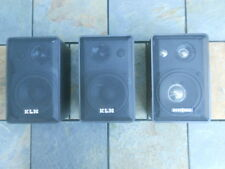 """KLH Model 970A 4"""" Compact 3-Way Speakers, 1 Pair + 1 Identical Insignia Speaker"""
