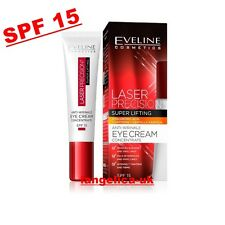 EVELINE Laser Precision EYE CREAM SPF 15 Concentrate Super Lifting ANTI-WRINKLE