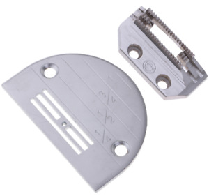 1 Set Industrial Needle Throat Plate & Feed Dog E14 Fits for Juki Singer Brot