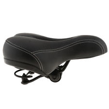 Elastic Men Women Bike Seat Foam Padded Leather Wide Cycle Bicycle Saddle