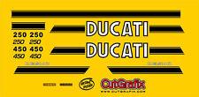 CutGrafix Ducati 250 450 single full restoration decal set incl delivery