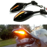 For Suzuki GSXR1000 / Hayabusa GSX1300R MOTORCYCLE Bikes LED TURN SIGNAL MIRRORS