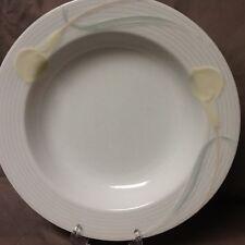 Mikasa China Serenade Yellow Wide Rimmed Soup Bowls (Reduced)