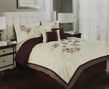 6 Piece Melrose Embellish Fabric Luxury Comforter Set-Bed in a Bag- King Size