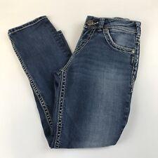 Silver Jeans W26 Womens Capris Denim Suki Medium Wash Blue