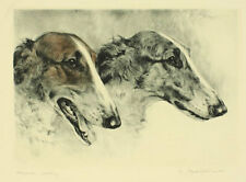 Kurt Meyer-Eberhardt Radierung Barsoi borzoi sighthound echting s