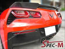 JPM Extended Carbon Fiber Trunk Spoiler Wing For 14-17 Chevy Corvette C7 CF