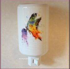 KALEIDOSCOPE BUTTERFLY NIGHT LIGHT BY DEAN CROUSER STONEWARE FREE U.S. SHIPPING