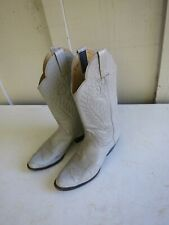 Panhandle Slim Ladies Grey Cowboy Western Boots Size 7 B Style 93717 Leather