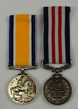 Pair of Full Size Replica WW1 George V Service Medals. Bravery, Imperial Forces