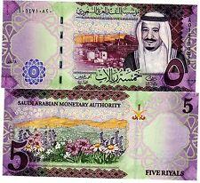 ARABIE SAOUDITE SAUDI ARABIA Billet 5 RIYALS 2016 NEW NOUVEAU ROI SELMA NEUF UNC