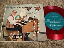 """Weird Christmas Private Press Bob Ward """"'Specially For You"""" Red Vinyl EP not LP!"""
