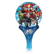 Los Vengadores inflar un divertido de lámina de globo de aire de relleno de mano Fiesta De Cumpleaños Bolsa Relleno