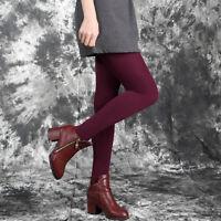 Women Warm Winter Thick Footless Skinny Slim Leggings Stretch Pants  EM