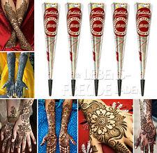 5X Golecha magique Henné Cône rouge brun á 25g pour MEHENDI tatouage