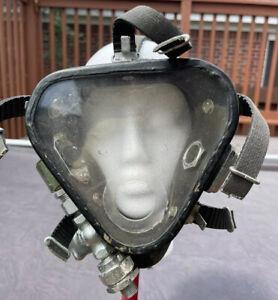 **RARE** WWII Desco Jack Browne Navy Scuba Divers Mask W / Valve Frogman Read
