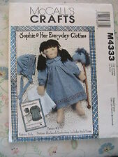 SOPHIE & HER EVERY DAY CLOTHES-*RARE & OOP cloth stick horse & clothing pattern