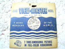 VINTAGE VIEW MASTER REEL - Ste. Anne De Beaupre , Que Canada from 1947
