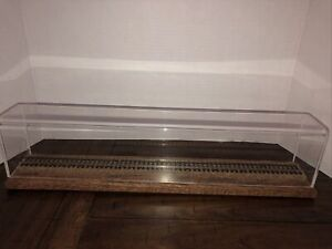 """18"""" Long HO Scale Model Train Display Cases  (wood with acrylic) GUC"""
