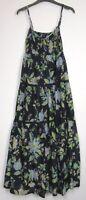 Marks & Spencer Per Una Navy floral Boho Summer Holiday Maxi Dress- Size 8 - 18