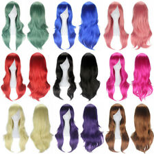 Cool 70cm Full Curly Wigs Cosplay Fashion Costume Anime Party Hot Long Wavy Hair