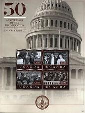 Uganda 2012 MNH John F Kennedy JFK Inauguration 4v M/S US Presidents Stamps