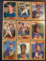 1987 Topps NEW YORK METS Complete Team Set 39 Cards wTRADED CONE-GOODEN WS LOOK