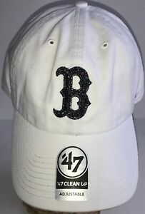 Boston Red Sox 47 Clean Up Adjustable Women's Hat Cap White NEW w/ TAGS