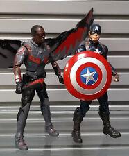 """Marvel Comics Legends Movie MCU CAP AMERICA  & FALCON 6"""" toy action figure NICE"""