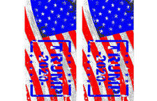 2 Trump 2020 -  Cornhole Wraps - Pair of Boards Decals