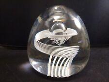 """RARE  STEUBEN """"Spiral"""" Glass Paperweight 3.5""""x3.5""""x3.5""""   EXCELLENT"""