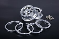 Alloy CNC Front wheel hub Silver for HPI Baja 5B