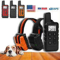 Dog Training Collar Rechargeable Remote Control Electric Pet Shock Vibration US