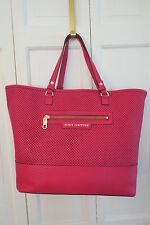Striking Juicy Couture Sierra Large Leather Tote/Weekender Hot Pink NWT $218