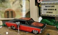 HOT WHEELS VHTF GARAGE CHASE W/INITIALS RED-BLK '66 CHEVROLET NOVA REAL RIDERS!