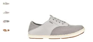 Olukai Nohea Moku Fog/Mist Grey Sneaker Loafer Men's US sizes 7-14 NEW!!!