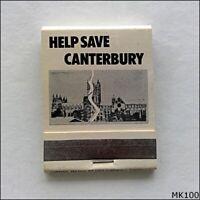 Help Save Canterbury Matchbook (MK100)