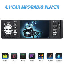 "Bluetooth Car Stereo 4.1"" HD Screen Audio Video Player Single Din Car Rear View"