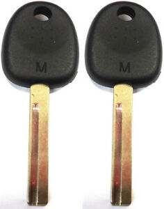2 Pack - FOR HYUNDAI ACCENT VELOSTER UNCUT TRANSPONDER CHIP KEY BLANK HY18-PT