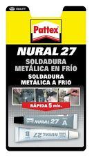 NURAL 27 PEGAMENTO SOLDADURA METALICA EN FRIO RAPIDA 5MINUTOS PATTEX. ENVIO 48H
