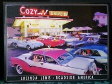 Cozy Drive In Tin Sign By Lucinda Lewis - 16x12.5 - desperate - drive-in