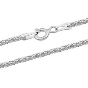 Popcorn Chain - 925 Sterling Silver - 1.20-3.60 mm + 16,18,20,22,24,26,28,30 in